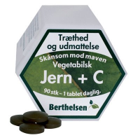 Berthelsen Jern 27 mg + C vitamin (90 tabletter)