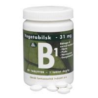 B1 vitamin 31 mg fra dfi (90 tabletter)