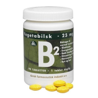 B2 vitamin 25 mg fra dfi (90 tabletter)