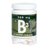 B3 vitamin 200 mg fra dfi (90 tabletter)