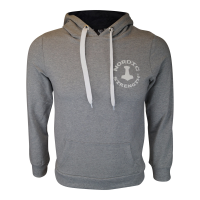 Pullover hoodie i Lysegrå (Mand)